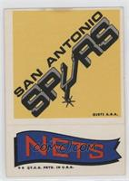 San Antonio Spurs, New York Nets [Good to VG‑EX]