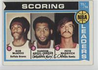 Bob McAdoo, Kareem Abdul-Jabbar, Pete Maravich