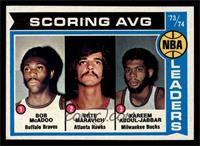 Scoring Average Leaders (Bob McAdoo, Pete Maravich, Kareem Abdul-Jabbar) [NM&nb…