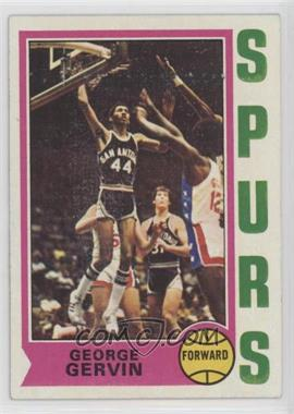 1974-75 Topps - [Base] #196 - George Gervin [Good to VG‑EX]