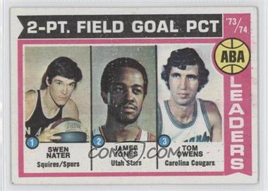 1974-75 Topps - [Base] #208 - ABA 2-Pt. Field Goal Pct (Swen Nater, James Jones, Tom Owens)