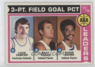 1974-75 Topps - [Base] #209 - Louie Dampier, Bill Keller, Roger Brown