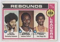ABA Rebound Leaders (Artis Gilmore, George McGinnis, Caldwell Jones) [Poor&nbsp…