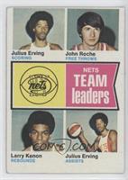 Julius Erving, John Roche, Larry Kenon