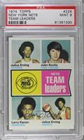 New York Nets Team Leaders (Julius Erving, John Roche, Larry Kenon) [PSA9]