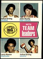 New York Nets Team Leaders (Julius Erving, John Roche, Larry Kenon) [GOOD]