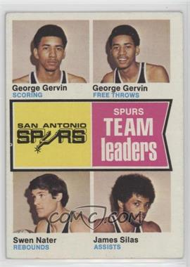 1974-75 Topps - [Base] #227 - George gervin, Swen nater, James Silas
