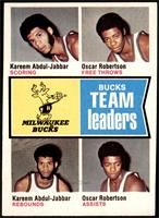 Bucks Team Leaders (Kareem Abdul-Jabbar, Oscar Robertson) [EX MT]