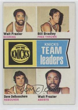 1974-75 Topps - [Base] #93 - Walt Frazier, Bill Bradley, Dave DeBusschere
