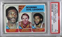 NBA Scoring Leaders (Bob McAdoo, Rick Barry,Kareem Abdul-Jabbar) [PSA 7]