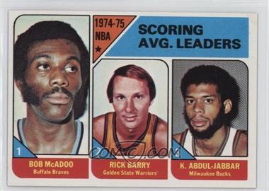 1975-76 Topps - [Base] #1 - NBA Scoring Leaders (Bob McAdoo, Rick Barry,Kareem Abdul-Jabbar)