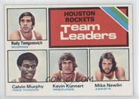 Houston Rockets Team Leaders (Rudy Tomjanovich, Calvin Murphy, Kevin Kunnert, M…