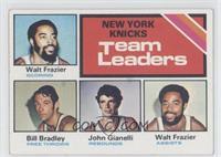 New York Knicks Team Leaders (Walt Frazier, Bill Bradley, John Gianelli) [Good&…