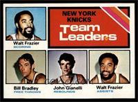 New York Knicks Team Leaders (Walt Frazier, Bill Bradley, John Gianelli) [EX&nb…