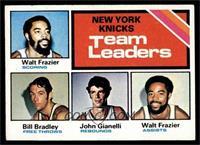 New York Knicks Team Leaders (Walt Frazier, Bill Bradley, John Gianelli) [EX]