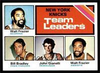 New York Knicks Team Leaders (Walt Frazier, Bill Bradley, John Gianelli) [NM]