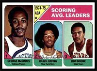 Scoring Avg. Leaders (George McGinnis, Julius Erving, Ron Boone) [NM]