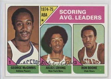 1975-76 Topps - [Base] #221 - Scoring Avg. Leaders (George McGinnis, Julius Erving, Ron Boone)