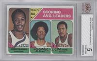 Scoring Avg. Leaders (George McGinnis, Julius Erving, Ron Boone) [BVG 5]