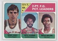 2-PT. F.G. PCT. Leaders (Bobby Jones, Artis Gilmore, Moses Malone)