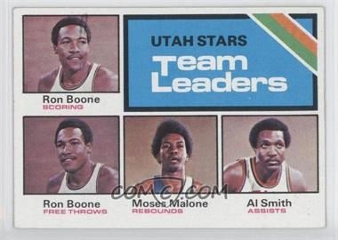 1975-76 Topps - [Base] #286 - Utah Stars Team Leaders (Ron Boone, Moses Malone, Al Smith)