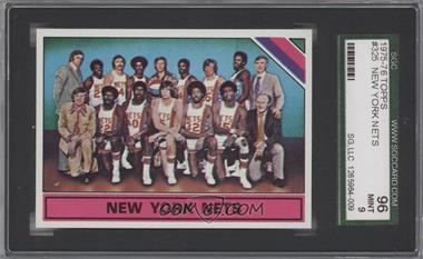 1975-76 Topps - [Base] #325 - New York Nets Team [SGC 96]