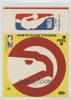 Atlanta Hawks/NBA Logo (Yellow) [Good to VG‑EX]