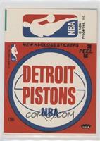 Detroit Pistons/NBA Logo (Red)