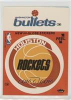 Houston Rockets Team, Washington Bullets Team (Red) [Poor]