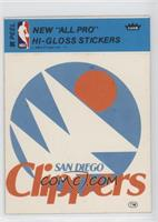 San Diego Clippers (Blue) [Good to VG‑EX]