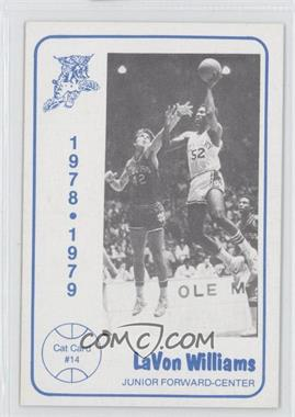 1978-79 Foodtown University of Kentucky Wildcats - [Base] #14 - LaVon Williams