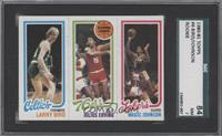 Larry Bird, Julius Erving, Magic Johnson [SGC 84 NM 7]