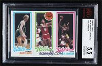 Larry Bird, Julius Erving, Magic Johnson [BVG 5.5 EXCELLENT+]