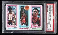 Michael Cooper, Moses Malone, George Johnson [PSA 10 GEM MT]