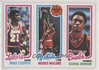 Michael Cooper, Moses Malone, George Johnson
