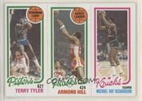 Terry Tyler, Armond Hill, Micheal Ray Richardson (Spelled Michael on Card)