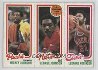 Leonard Robinson, Mickey Johnson, George Johnson [Good to VG‑EX]