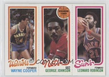1980-81 Topps - [Base] #193-154-95 - Wayne Cooper, George Johnson, Leonard Robinson