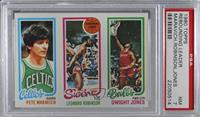 Pete Maravich, Dwight Jones, Leonard Robinson [PSA 7 NM]