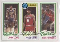 John Long, Julius Erving, Ricky Sobers