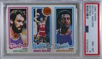 Rich Kelley, Moses Malone, Winford Boynes [PSA8NM‑MT]