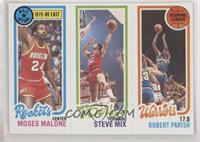 Moses Malone, Steve Mix, Robert Parish
