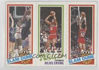 Slam Dunk Star (Elvin Hayes), Julius Erving, Slam Dunk Star (Ron Brewer)