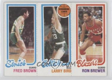 1980-81 Topps - [Base] #FBLBRB - Fred Brown, Larry Bird, Ron Brewer