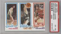 Fred Brown, Larry Bird, Ron Brewer [PSA 6]