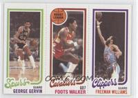 George Gervin, Foots Walker, Freeman Williams