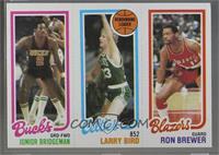 Junior Bridgeman, Larry Bird, Ron Brewer [GoodtoVG‑EX]
