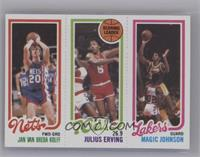 Jan Van Breda Kolff, Julius Erving, Magic Johnson [Near Mint‑Mint]