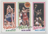 Jan Van Breda Kolff, Julius Erving, Magic Johnson [Good to VG‑E…