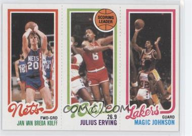 1980-81 Topps - [Base] #JVJEMJ - Jan Van Breda Kolff, Julius Erving, Magic Johnson